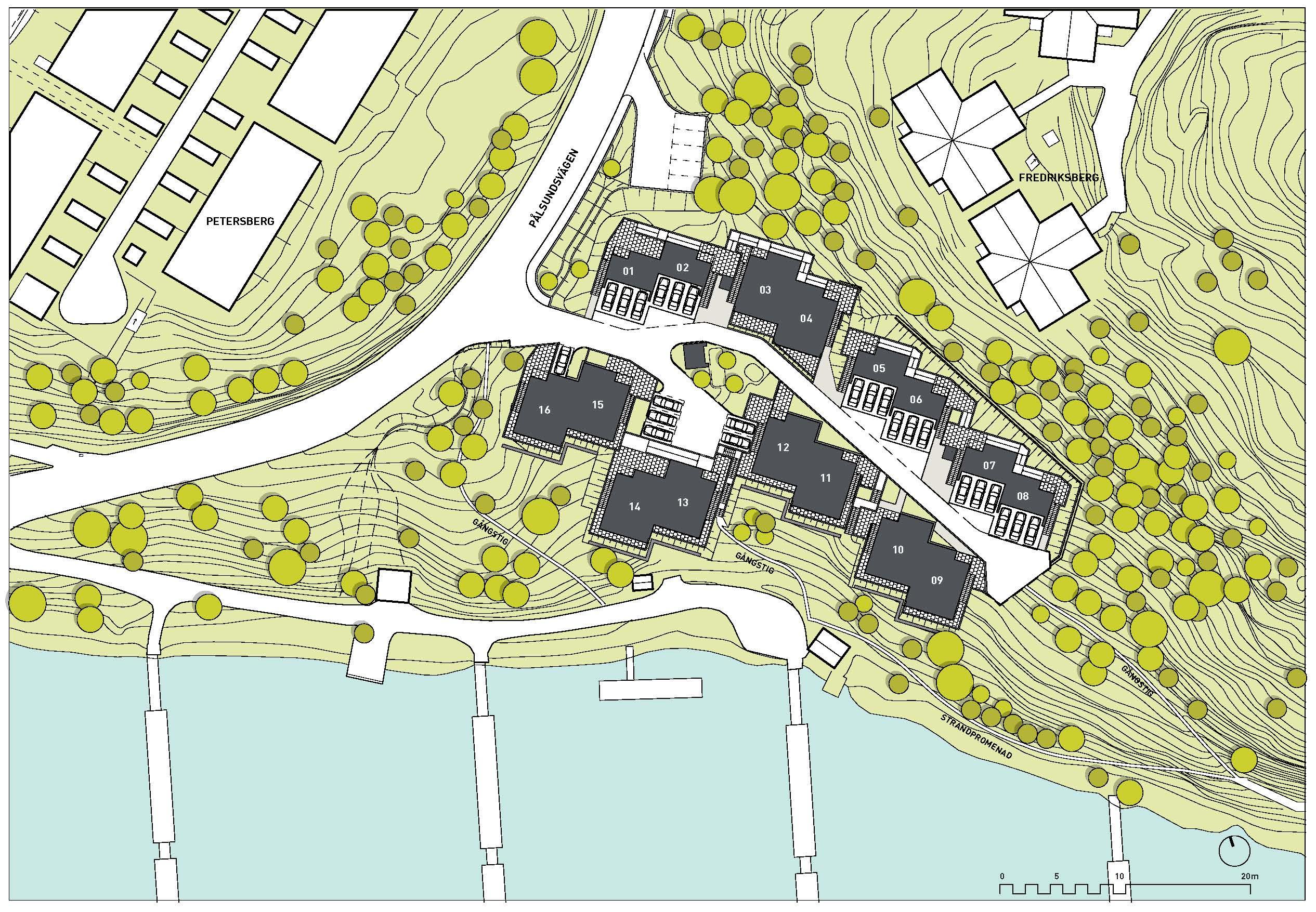 seafront homes in vaxholm  sitplan 500